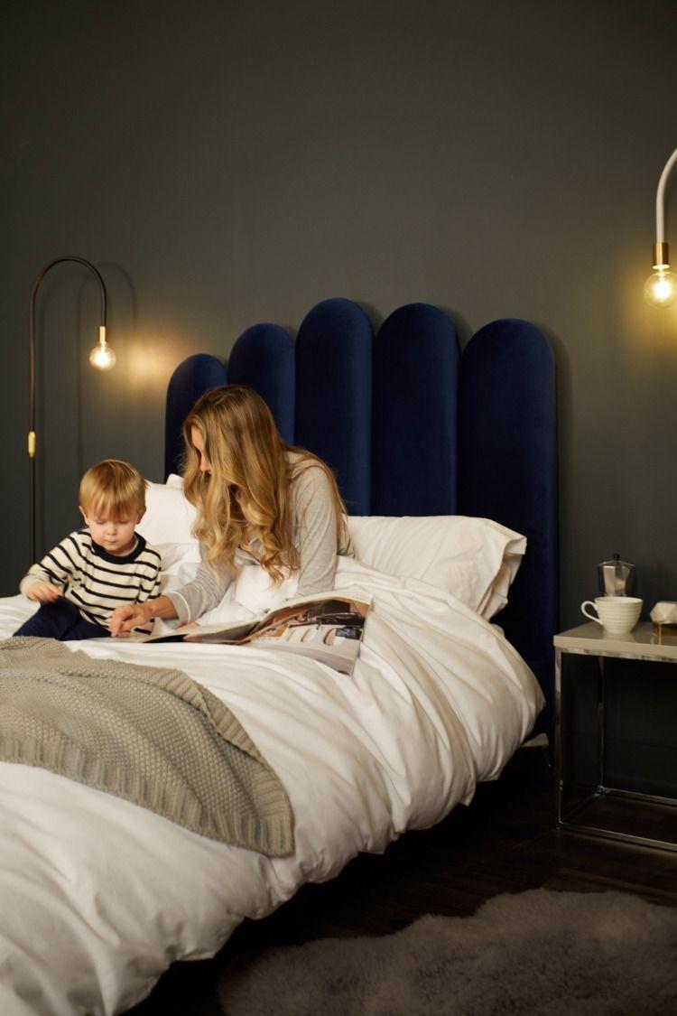 Rene Midnight Velvet Super King Size Bed Super King Beds Uk