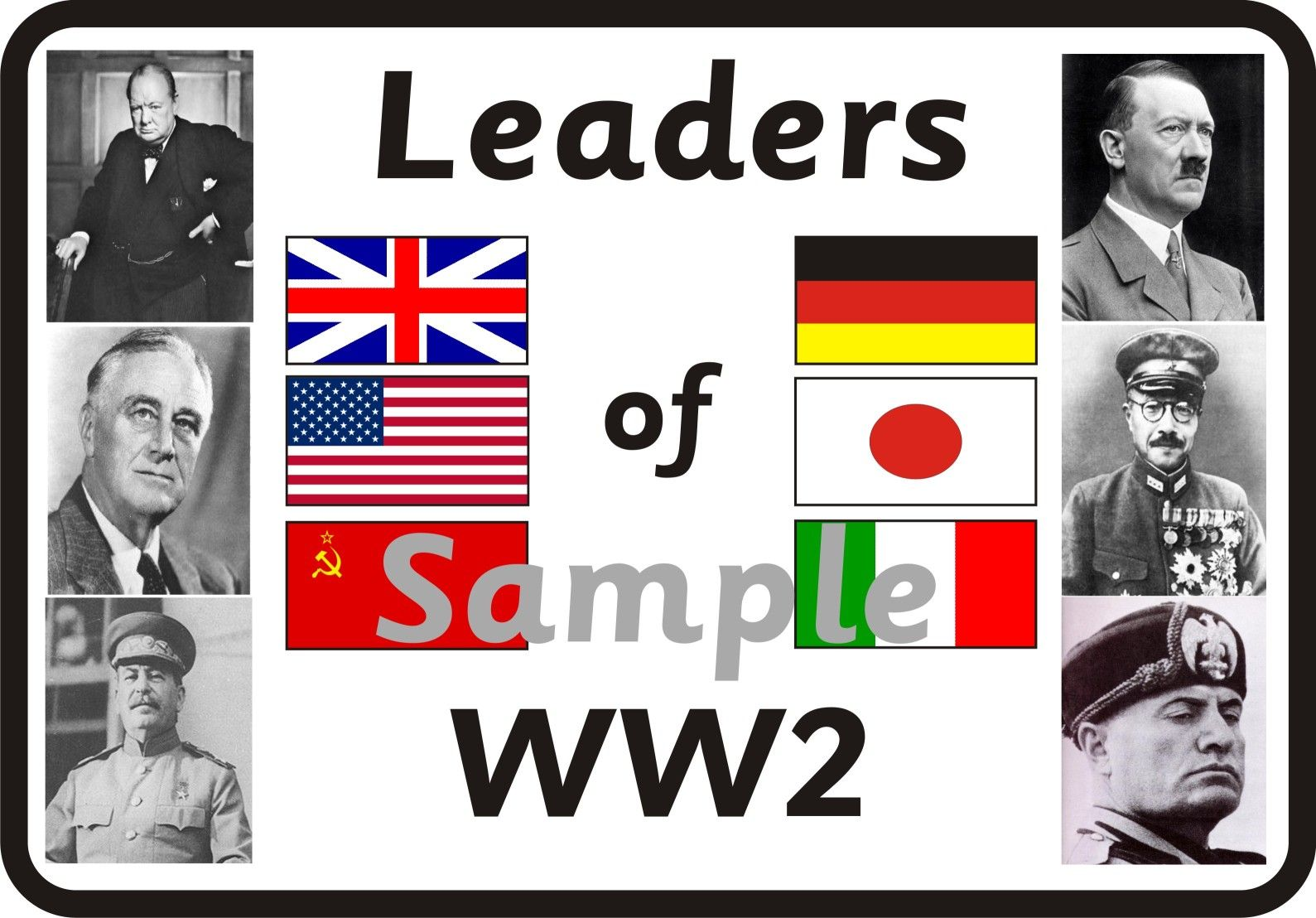 an introduction to the history of the four main leaders during world war two World war ii, also called second world war, conflict that involved virtually every part of the world during the years 1939-45 the principal belligerents were the axis powers—germany, italy, and japan—and the allies—france, great britain, the united states, the soviet union, and, to a lesser.