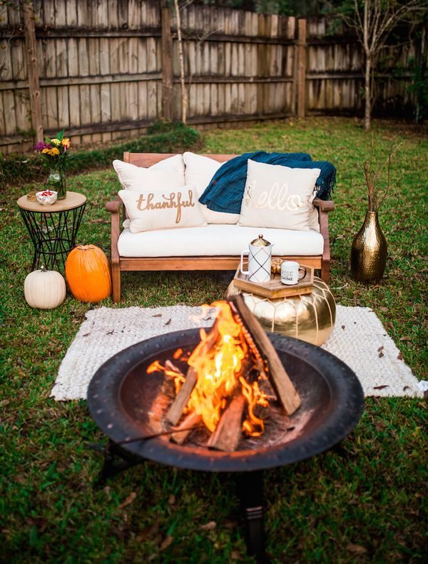 Haute Off The Rack Friendsgiving Bonfire Holiday Party Ideas