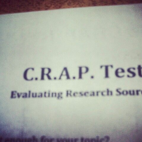 So in U.S. History I had a CRAP Test. :3