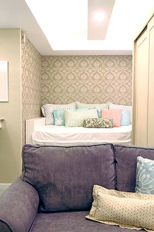 sqm condo can be used in micro condos manila also  cozy and compact sqm for newlywed couple small spaces rh pinterest