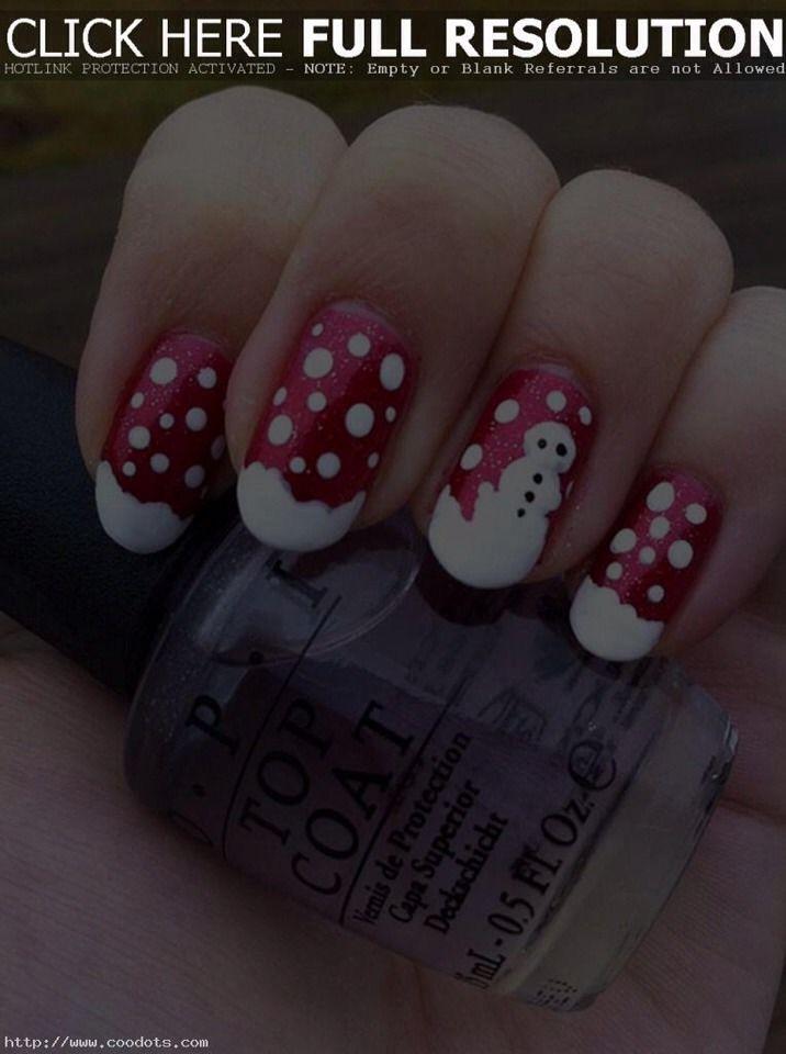 Snowman Nails | nail art | Pinterest | Uñas de muñeco de nieve, Uñas ...