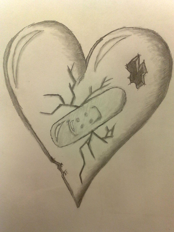 Pretty Broken Hearts Drawings Free Cool Heart Healing
