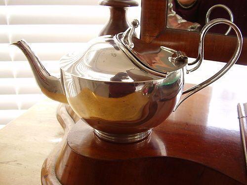 Antique Victorian Art Nouveau Style Silver Plated Teapot