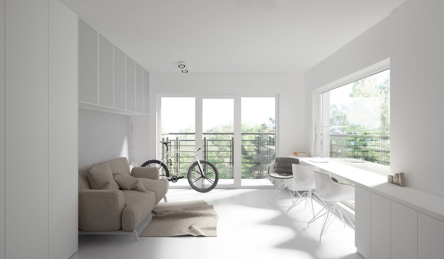 Four Sleek Living Rooms With Simple Color Palettes   Simple colors ...