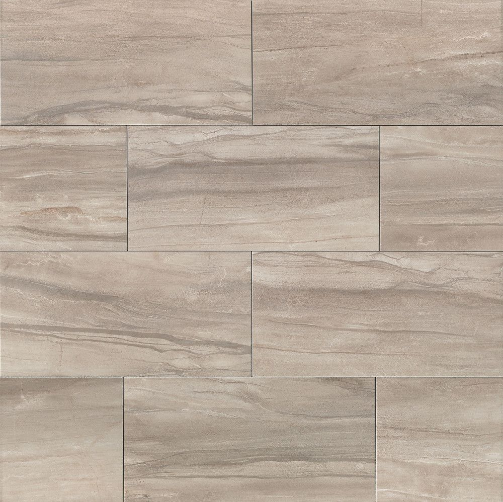 """Athena 12"""" X 24"""" Floor & Wall Tile In Ash"""