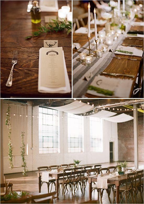French Industrial Wedding Ideas