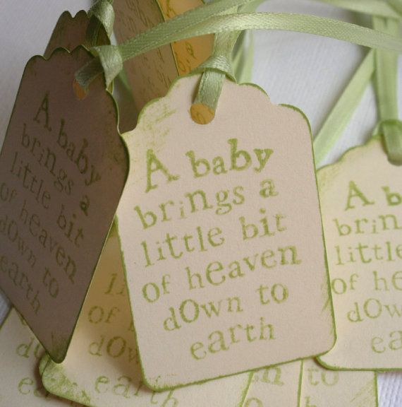Baby Quote Tags For Showers Or Favors By Theorangesparrow On Etsy 4 95 Baby Shower Return Gifts Baby Quotes Baby Shower Gifts