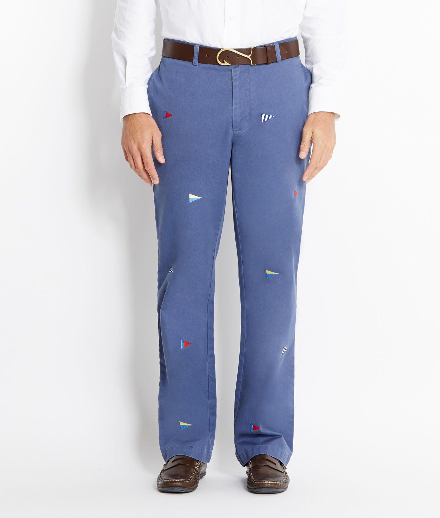 Shop Pants: Burgee Flag Embroidered Classic Fit Club Pants for Men   Vineyard Vines