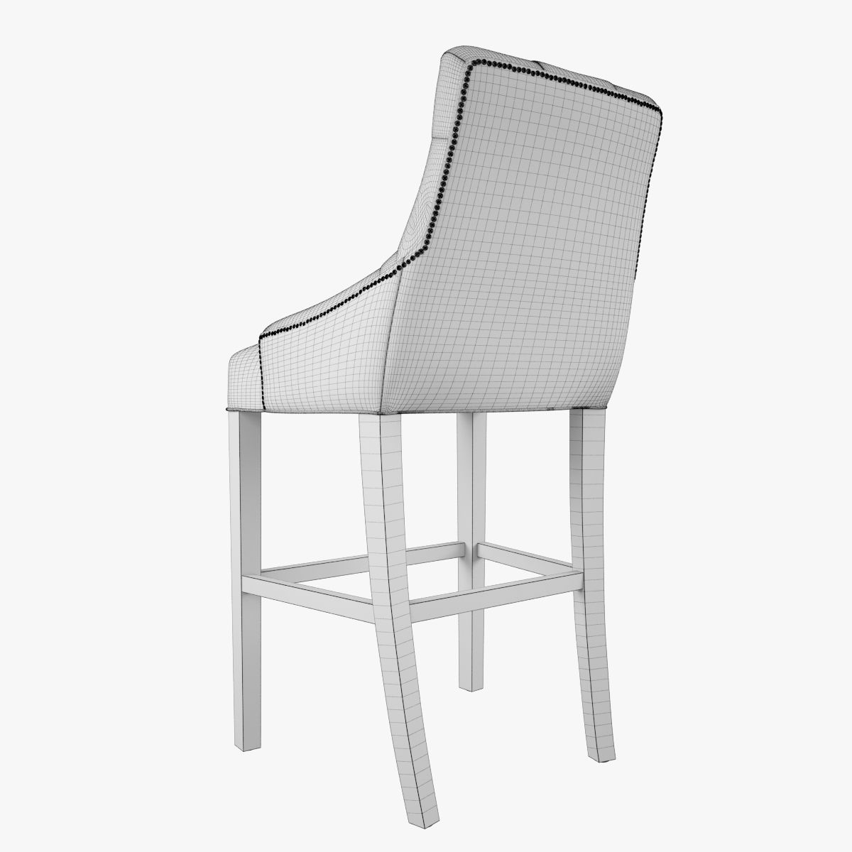 Restoration hardware martine tufted leather stool with