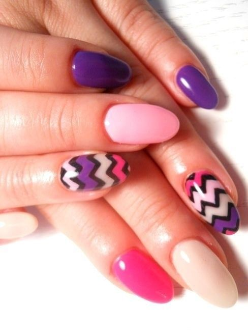 Lux Beauty Spring Nail Art Oval Nails Designs Oval Nails Nail Designs Spring