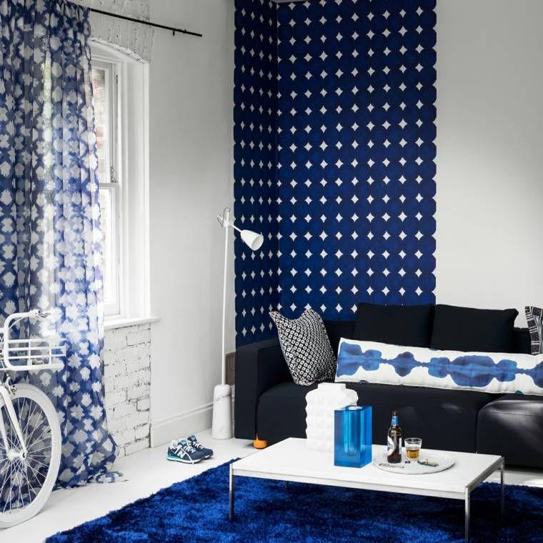 2018 Wohnzimmer Farbe Trend: Hellblau #farbe #hellblau #trend #wohnzimmer