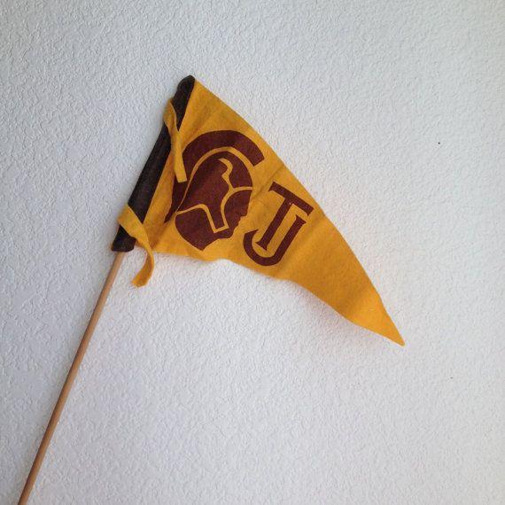 college felt pennant on stick football school pride USC ...