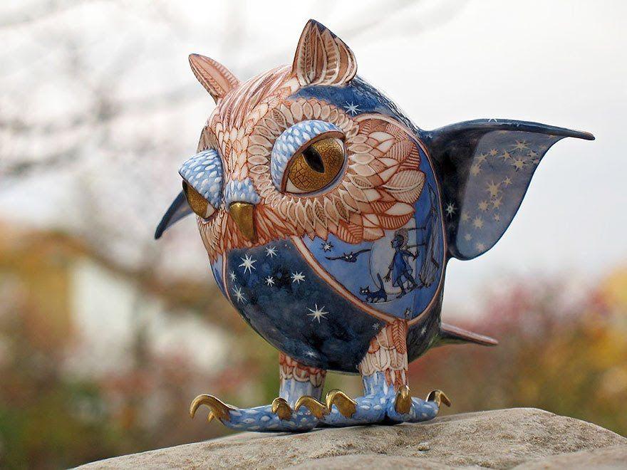 Cultura Inquieta - Dúo de artistas ucranianas crean maravillosas criaturas de cuento de hadas, con porcelana
