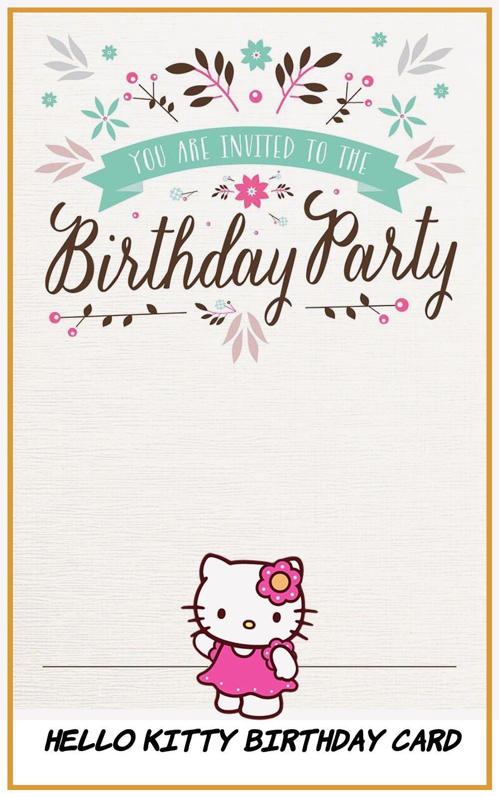12 Top Hello Kitty Birthday Card Hello Kitty Birthday Birthday Cards Hello Kitty Birthday Invitations