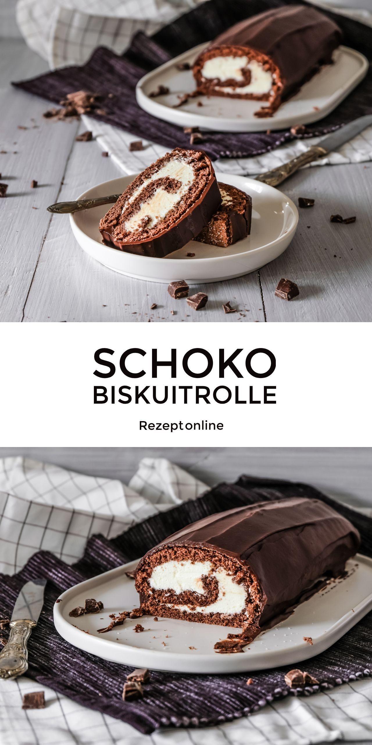 Schoko Biskuitrolle Ahalni Sweet Home Biskuitrolle Kuchen Und Torten Biskuit