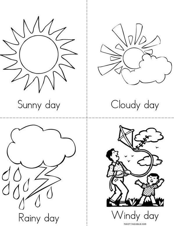 Weather color page | Preschool weather, Weather crafts ...