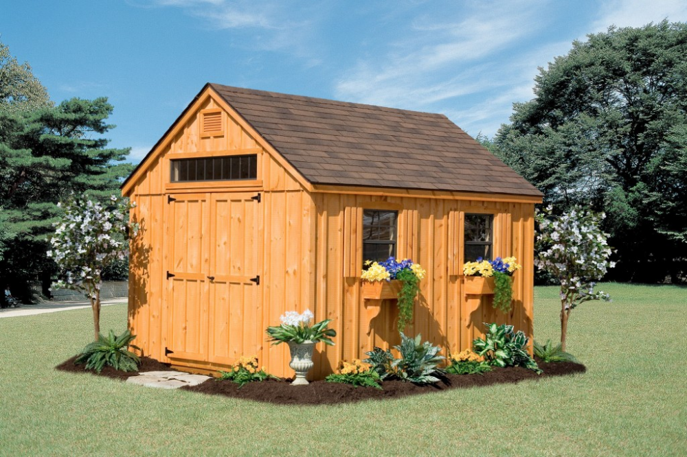 Custom Amish Backyard Wood Sheds For Sale In Oneonta Ny Amish Barn Company Building A Shed Shed Blueprints Shed Design Plans