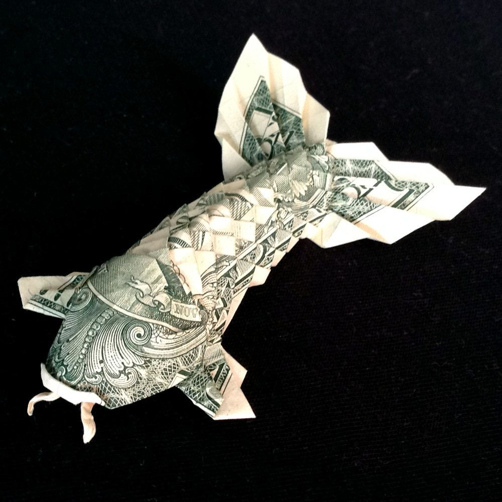 Money origami koi fish with fluffy tail 3d figurine made out of money origami koi fish art gift idea real one dollar bill souvenir fluffy tail by trinket2shop jeuxipadfo Choice Image