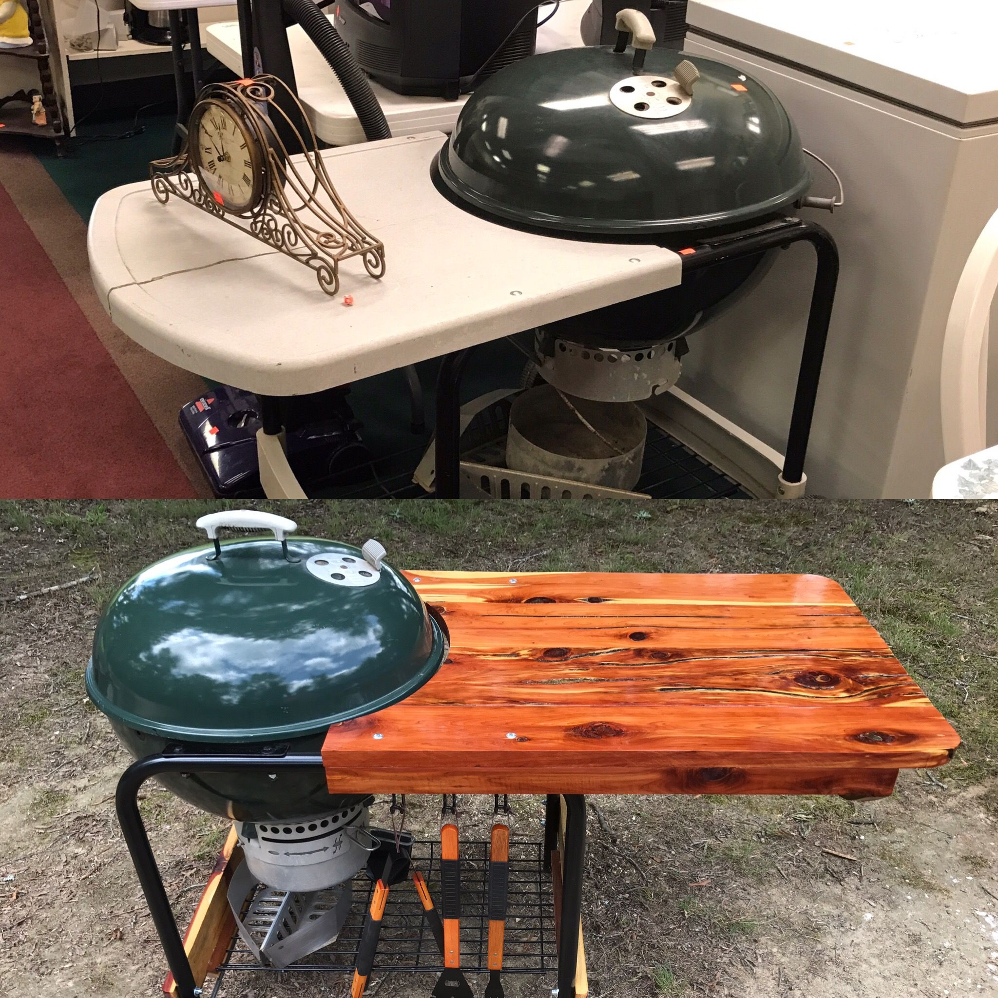 Rebuilt The Table For A 25 Weber Grill Thrift Store Find Http