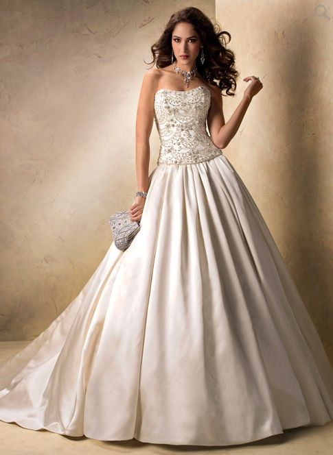 Bridal Gowns Maggie Sottero A Line Wedding Dress With Sweetheart