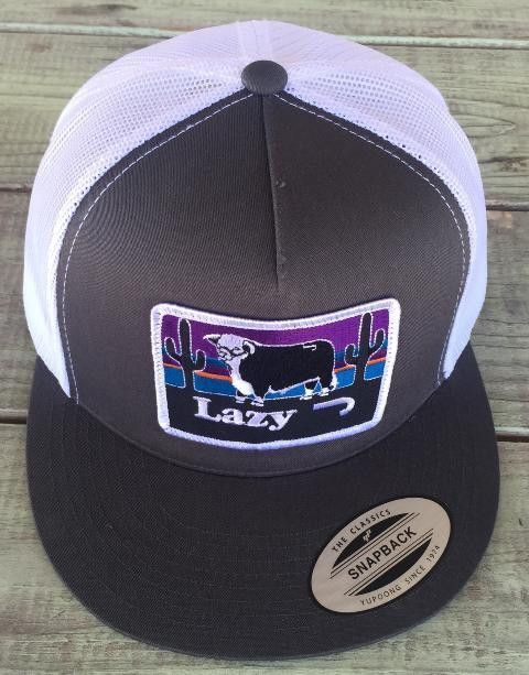 8391c9ec8dfcb Lazy J Ranch Wear Hereford and Sunset Hat (Grey White) 4