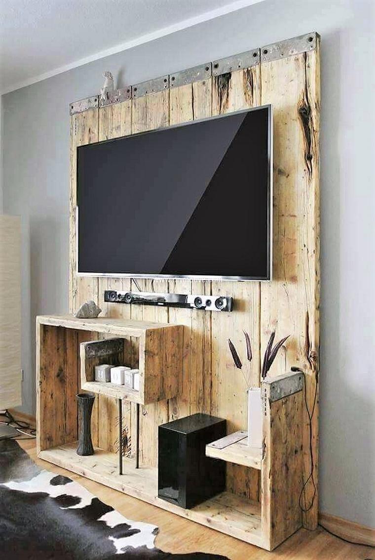 Home-entertainment-design-ideen  cheap ideas with wooden pallets  wooden pallets pallet wall art