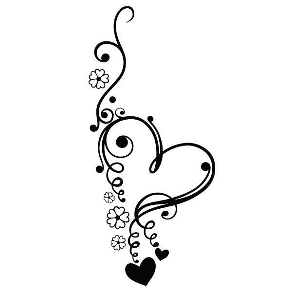 Heart flowers vinyl decal sticker for Car/Truck Window Laptop Bottle mac decor #number5