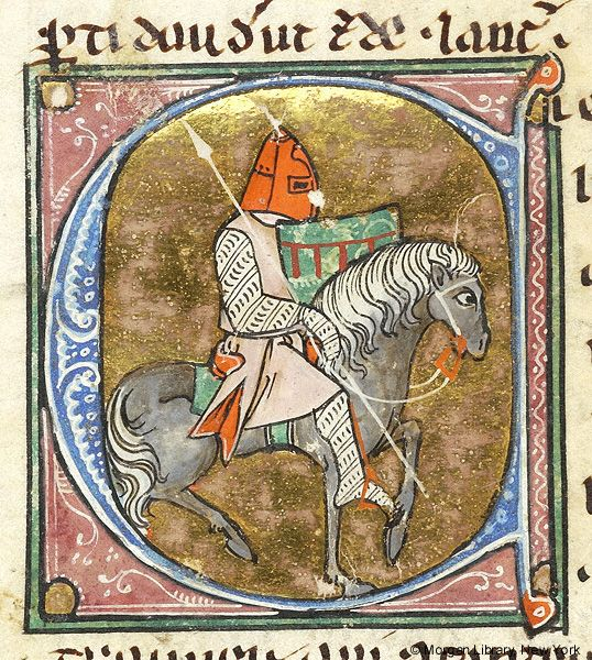 Initial C | Lancelot du Lac | Northeastern France, perhaps in Saint-Quentin or Laon | between 1310 and 1315 | The Morgan Library & Museum