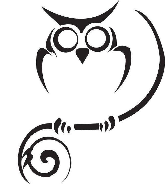Pin By Kris On Petits Dessins Tribal Owl Tattoos Owl Tattoo Design Owl Tattoo