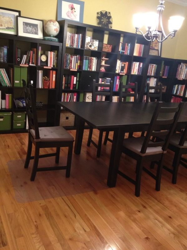 Homeschool dining room study makeover complete jp school for Homeschool dining room ideas