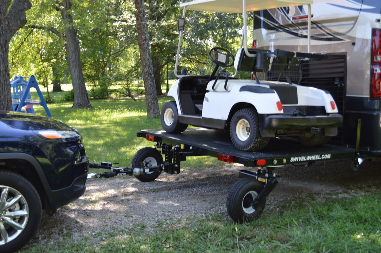 Swivelwheel 58dw Tandem Tow Dolly Camper Storage Ideas Travel Trailers Camper Towing Golf Carts