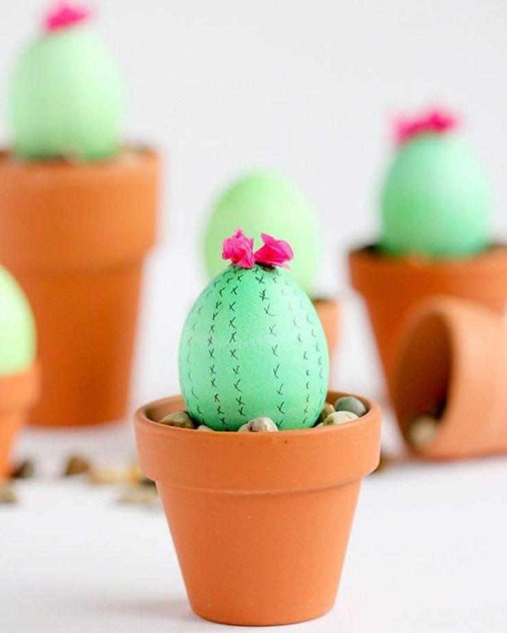 10 originele paaseitjes #diy #knutselen #pasen #paasei #ei #cactus #easter #easteregg #egg