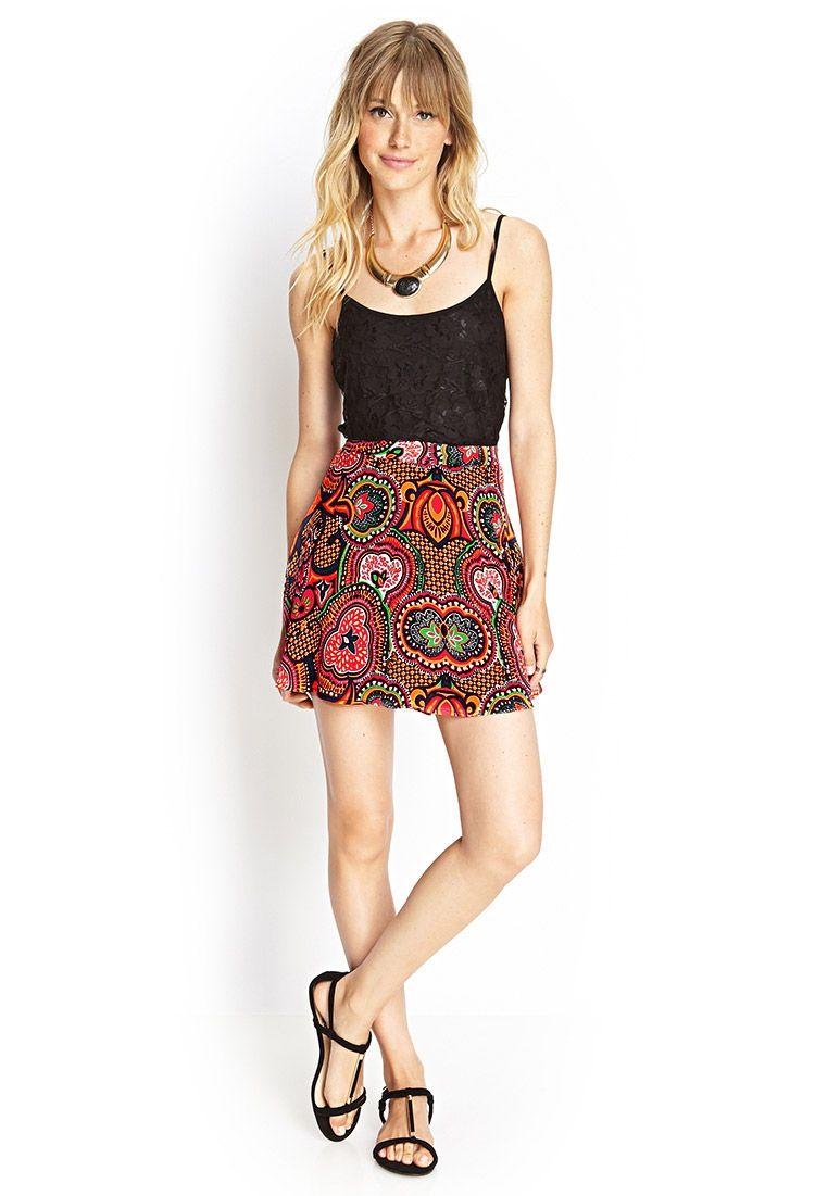 Abstract Print Skater Skirt | grown up christmas list | Pinterest ...