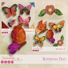 Butterflies Duet by SnickerdoodleDesigns cudigitals.com cu commercial scrap scrapbook digital graphics#digitalscrapbooking #photoshop #digiscrap #scrapbooking