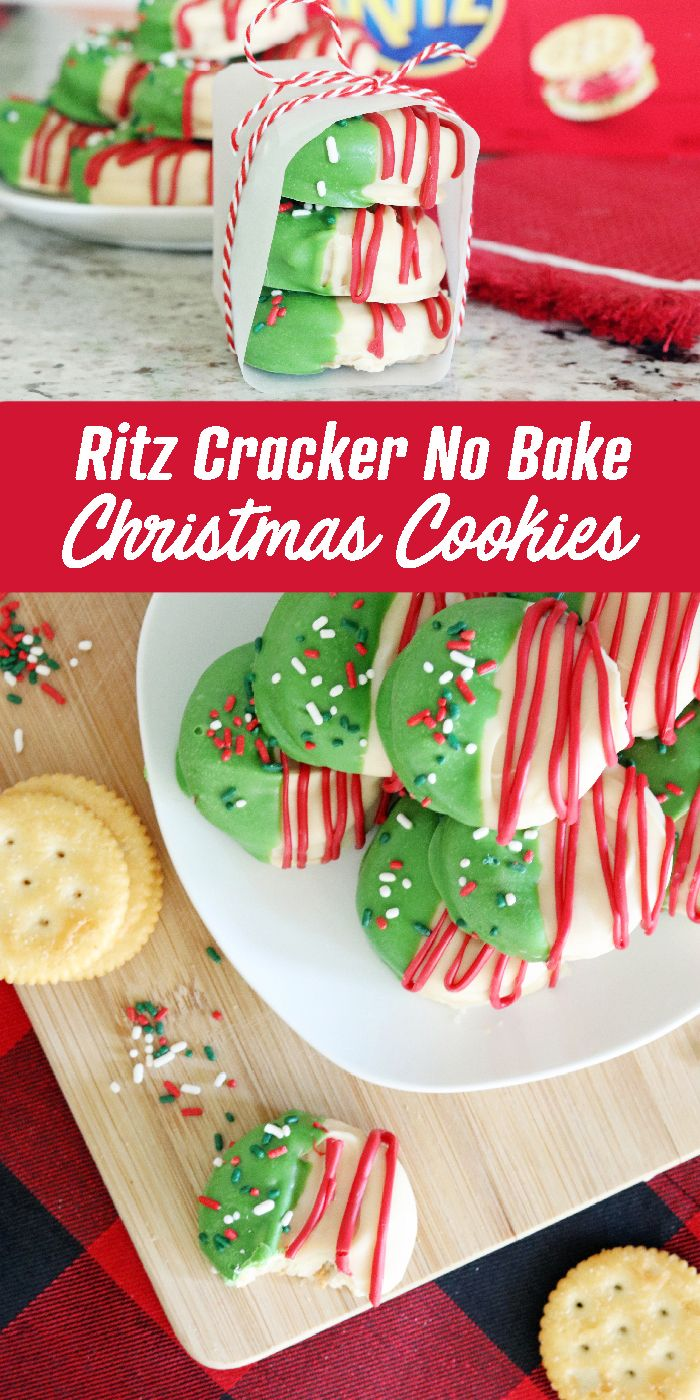 Ritz Cracker No Bake Christmas Cookies! These are the most simple No Bake Cookies
