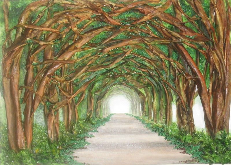 The Tree Tunnel Is From My 3d Collection Its Made Of Fabric