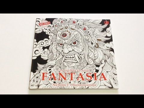 Flip Through Fantasia Coloring Book By Nicholas F Chandrawienata