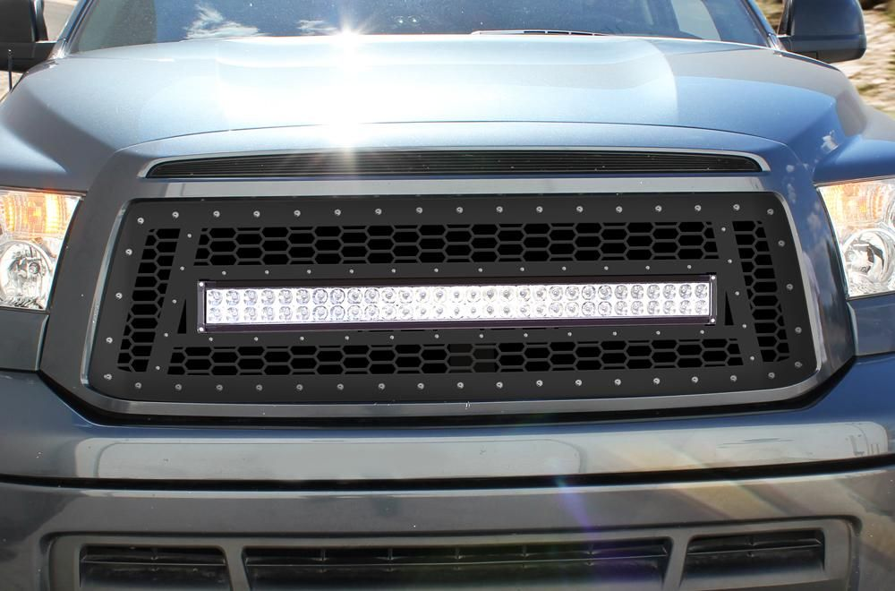 1 Piece Steel Grille For Toyota Tundra 2010 2013 Led Light