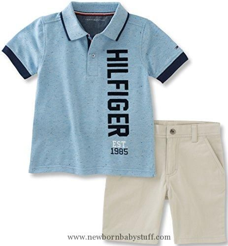 0589860d1 Baby Boy Clothes Tommy Hilfiger Baby Boys  2 Pieces Polo Short Set ...