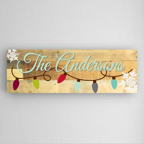 Personalized Holiday Canvas Sign! Christmas lights sign with your ...