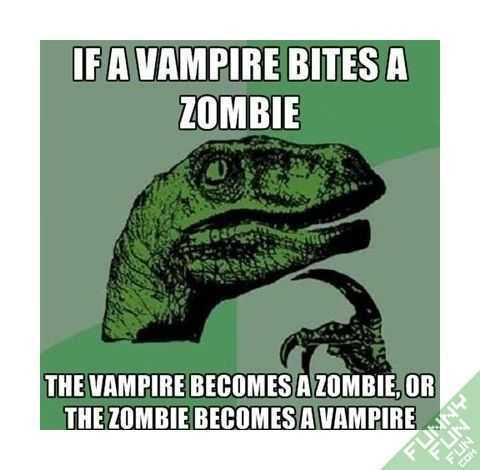 T-rex vs. Vampire question