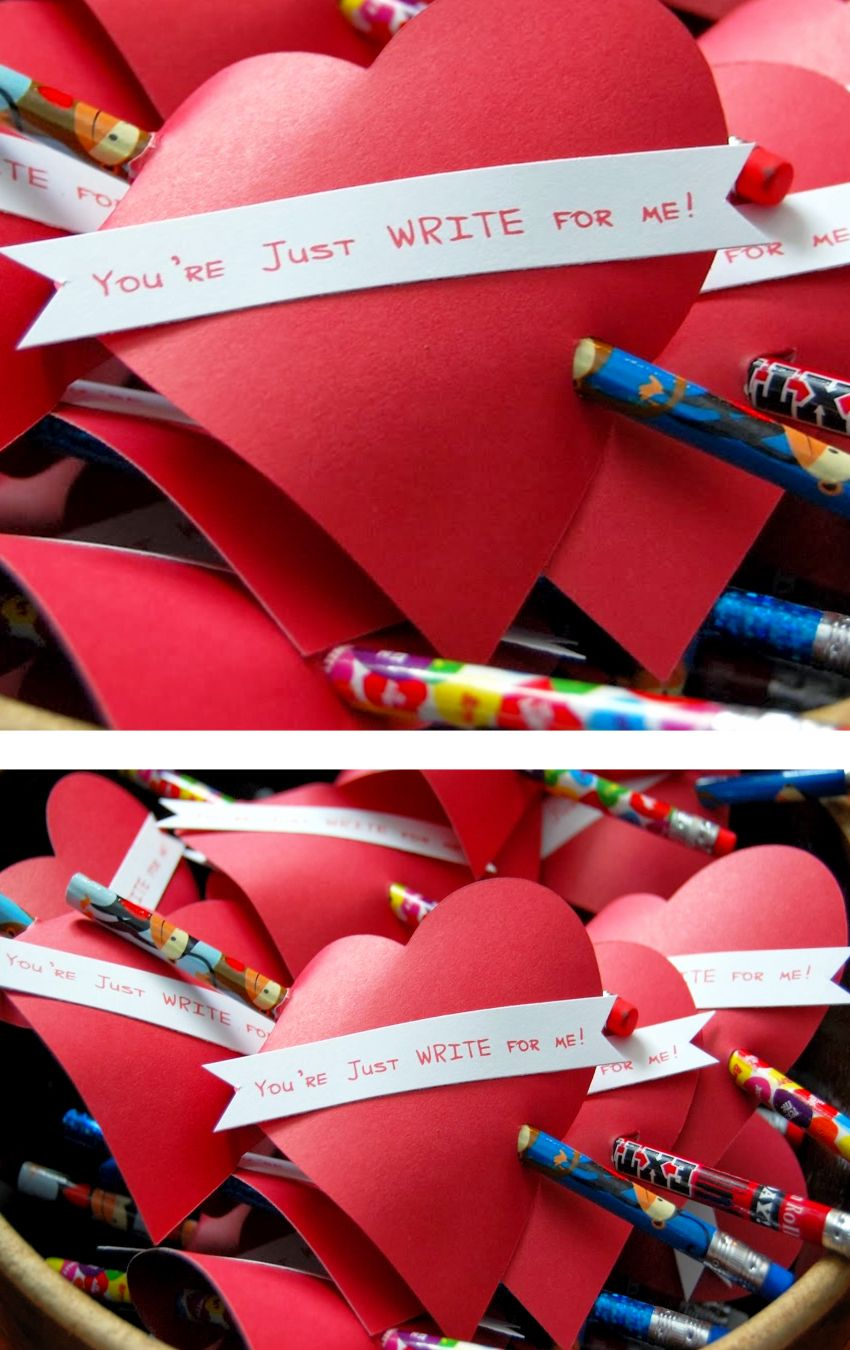 Diy School Valentine Cards For Classmates And Teachers Simple