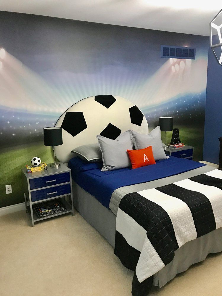 Soccer Themed Bedroom images