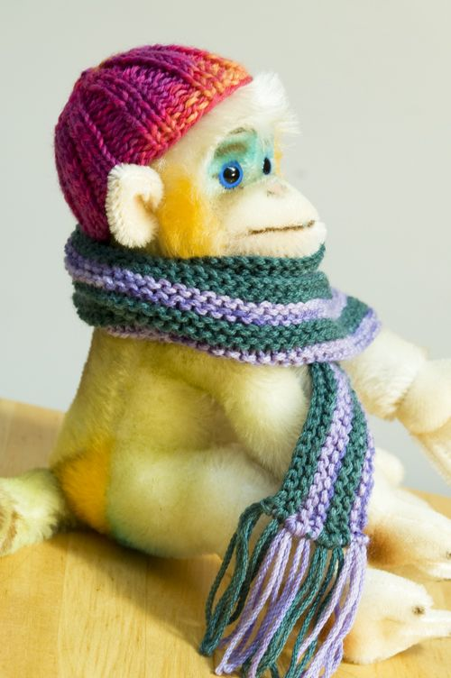 Knitted Doll Hat and Scarf free pattern | Knit doll hat ...
