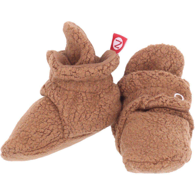 Zutano Cozie Fleece Baby Booties Unisex For Newborns and Infants