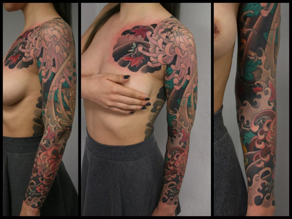 tattoo sleeve japanese style | Slava Starkov | tit for ...