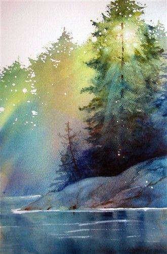 Ann Fullerton Autumn Afternoon Watercolor Landscape