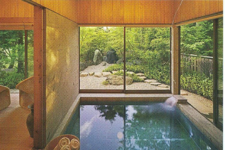 Fabulous Design Of Japanese Bath House Marvelous Modern Style