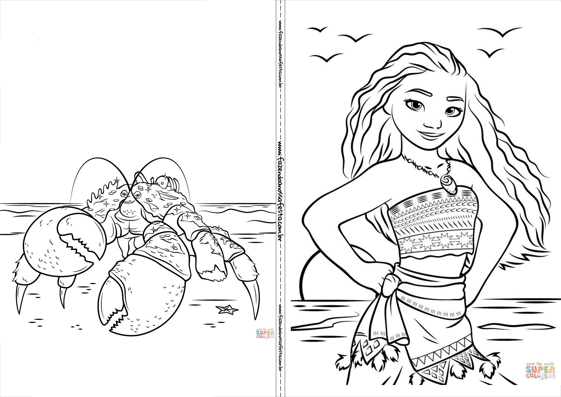 Resultado De Imagem Para Imagem Para Desenhar Moana Livro De